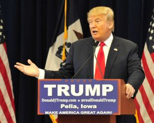 Donald Trump speaks at a rally in Iowa.  Photo Courtesy of DonaldJTrump.com.